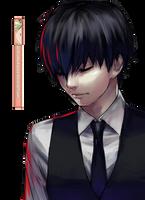 Ken Kaneki (Tokyo Ghoul) - Render by azizkeybackspace