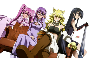 Night Raid Girls (Akame ga Kill!) - HD Render by azizkeybackspace