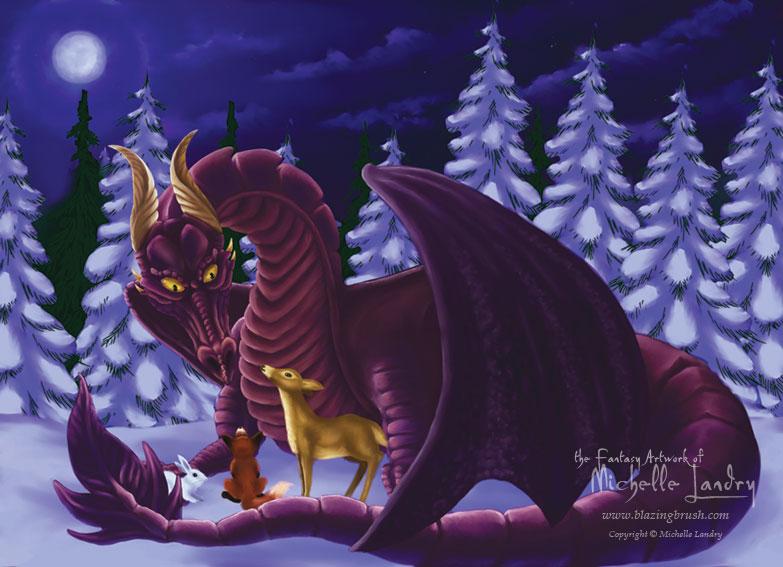 Dragon of winter solstice