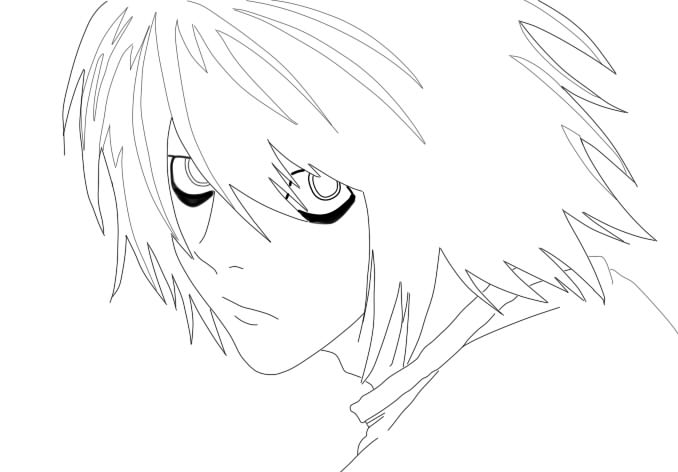 Dibujos Para Colorear De Death Note: Near Death Note Chibi Coloring Pages Coloring Pages