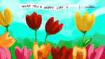 Painting for Depression - Tulips!