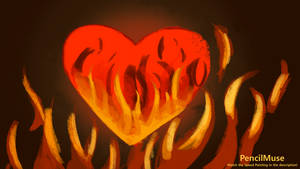 Mood Painting | Anger - Burning Heart | 6 Minutes