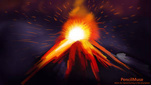 Mood Painting | Anger - Volcano | 6 Minutes