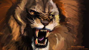 Mood Painting | Anger - ROAR! | 6 Minutes
