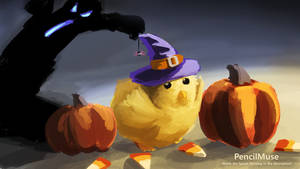 Daily Speed Sketch - Halloween Chick