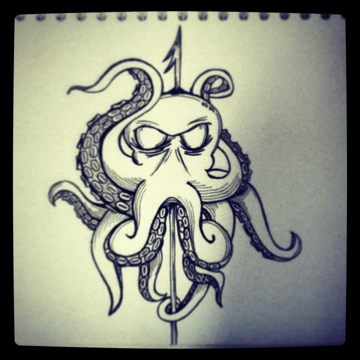 octopus ink by jackerynorthall on deviantart. Black Bedroom Furniture Sets. Home Design Ideas