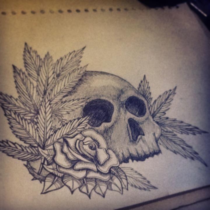 tattoo design skull and rose by jackerynorthall on deviantart. Black Bedroom Furniture Sets. Home Design Ideas