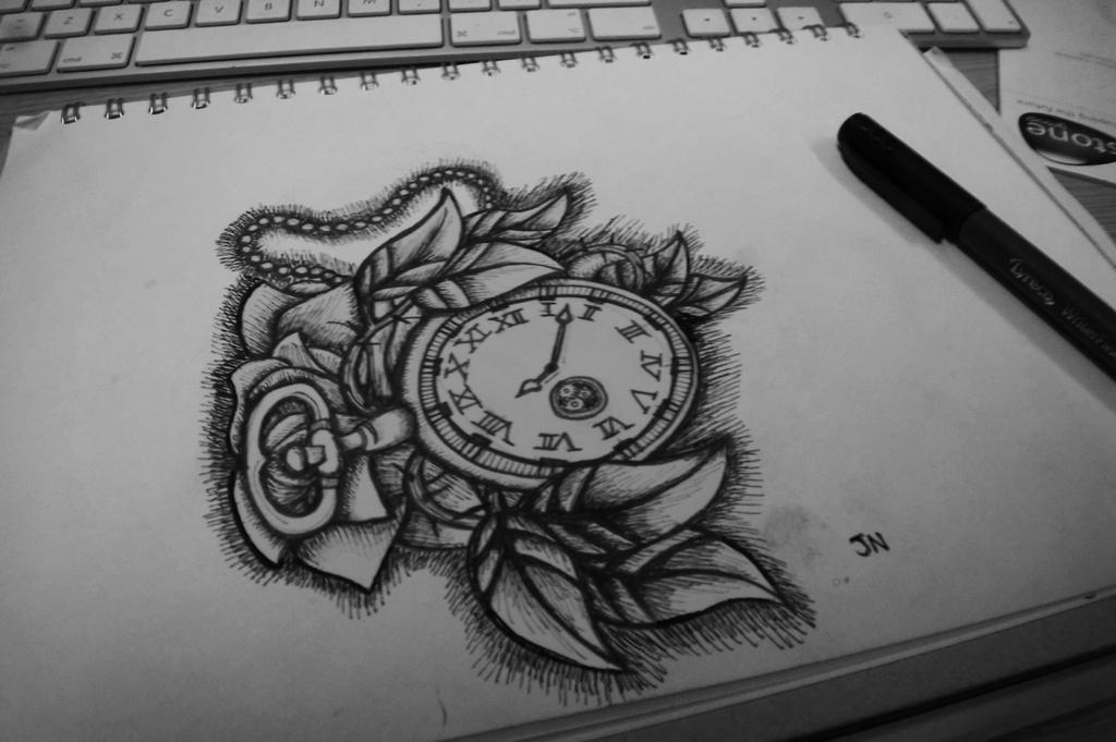 Stop watch by jackerynorthall on deviantart for Stop watch tattoos