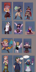 PKMN RUNES: Chibi Batch by sketcher-taku