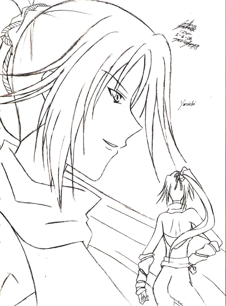 Bleach Yoruichi Page Coloring Pages