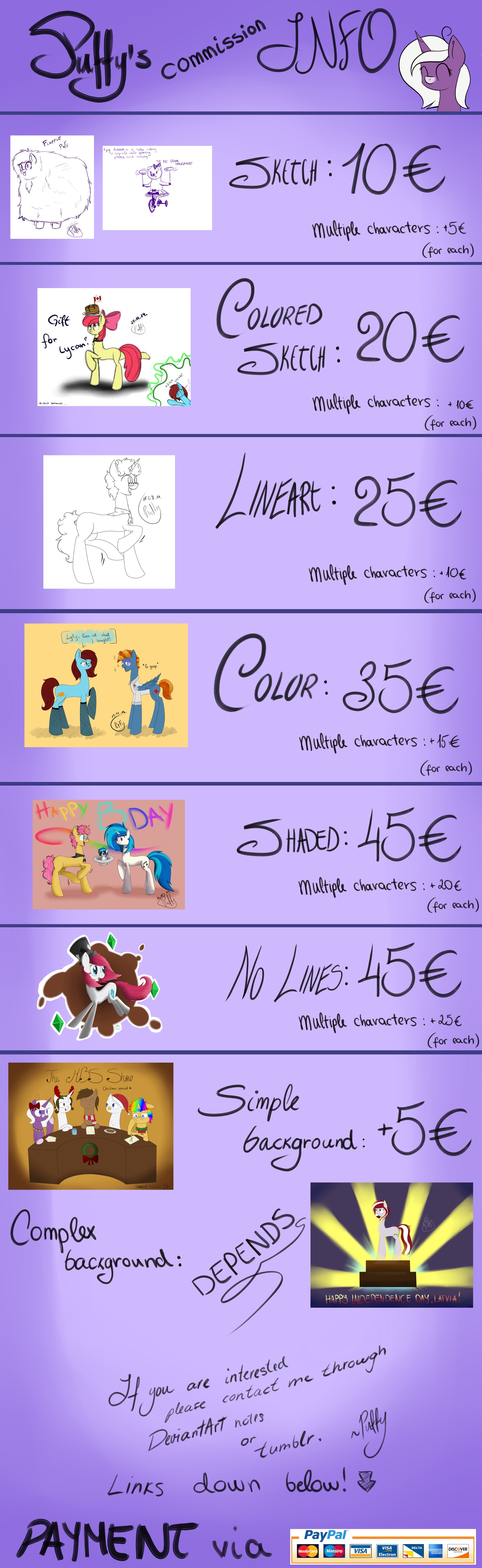 Commish Prices by PuffySmosh