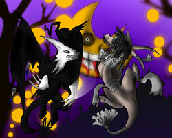 Death versus Insanity by Meanira
