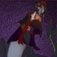 Serious-Sharkie-king :U by Meanira