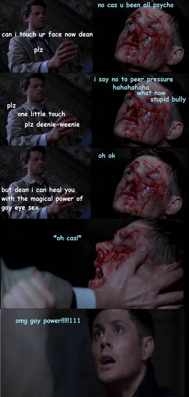 when destiel became canon!!11111111 lololololololo by Flying-With-The-Owls