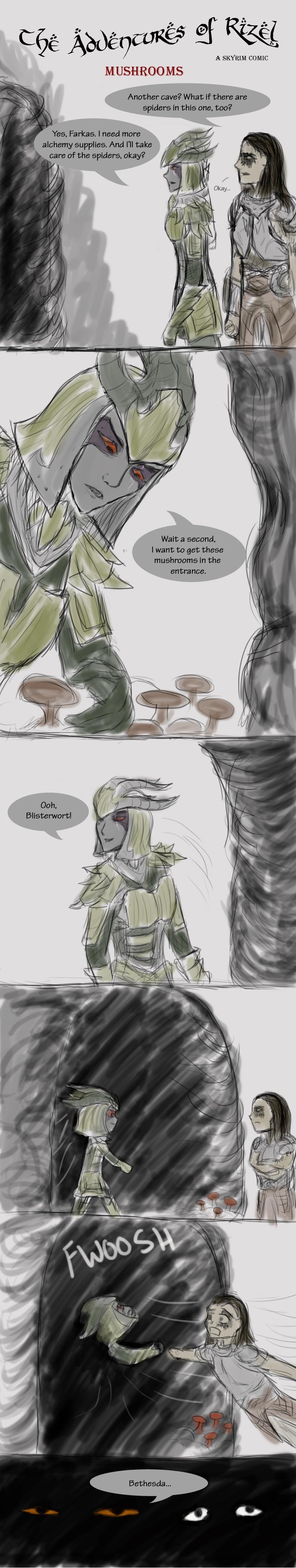 The Adventures of Rizel: Mushrooms by Nighthawk42