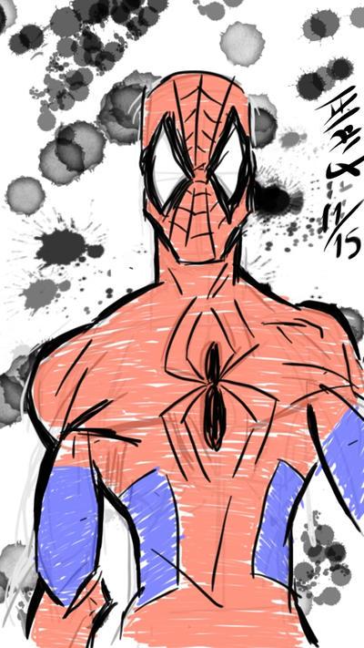 Spiderman quick sketch by paulocastelo