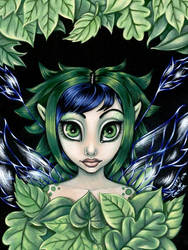 Surrounded by Leaves by linranae
