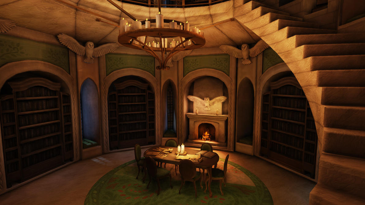 Fantasy Library by Khaerii on DeviantArt
