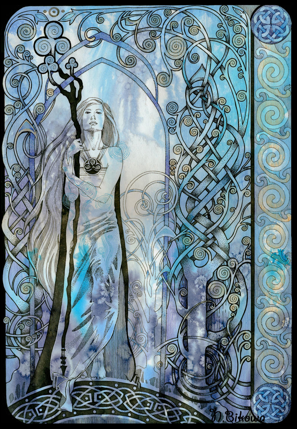 Deviantart coloring clubs - Dame Clubs Celtic Ornament By Queerartist