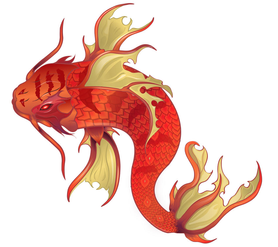 Dragon koi fish by hiramn on deviantart for Koi fish net