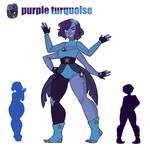 Purple turquoise fusion