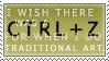 Ctrl+Z Stamp by GriffSGirl
