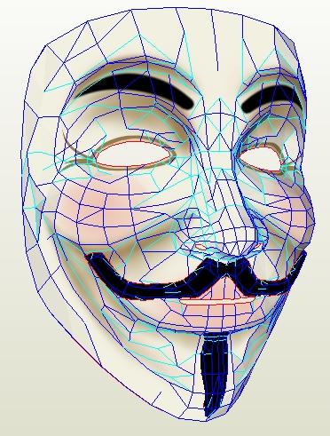 V for Vendetta mask by wingedLizz