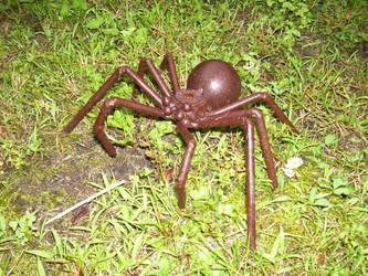 metal steel ball spider by misskitten66