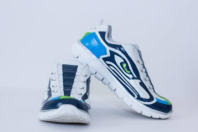 Seahawks Sketchers by DesignsByFro
