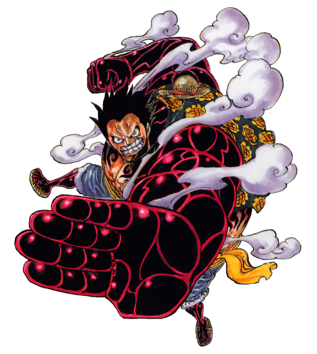 Luffy Gear 4 Tattoo: Luffy Gear 4 Render [anime Coloring] By GioRgSaVv On