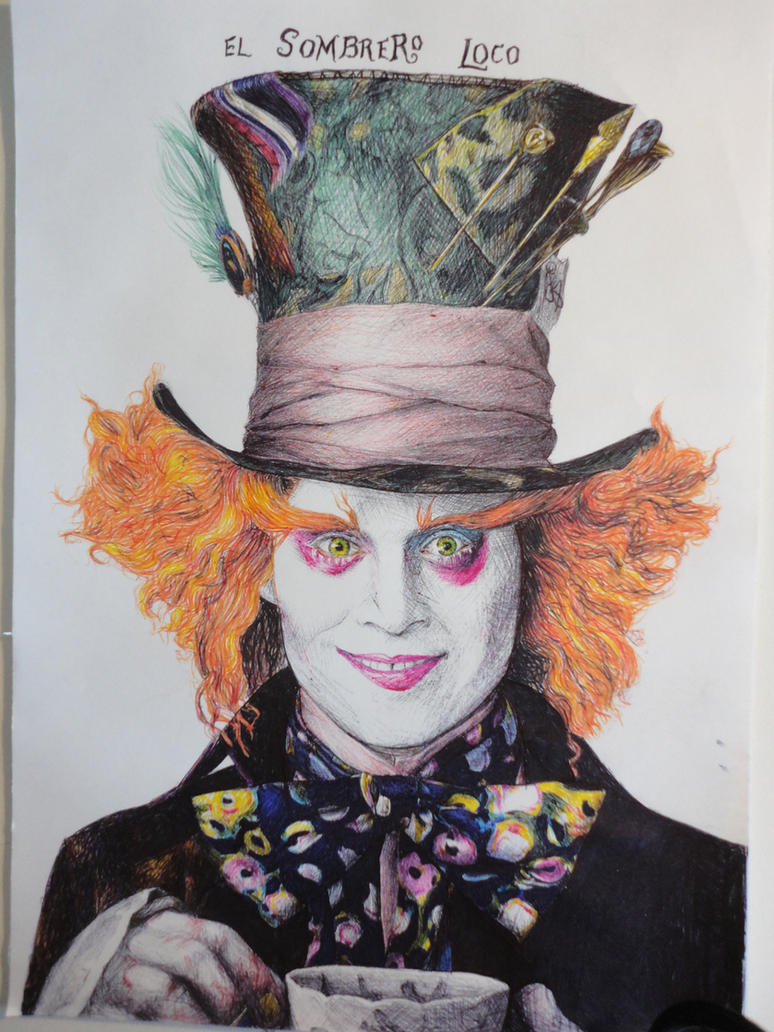 Johnny Depp Mad Hatter Drawing the mad hatter (Johnny...