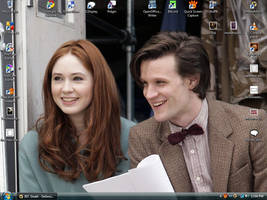 Amy Pond And The 11th Doctor by mickmoart