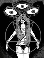 Mistress Of The Dark Pains by mickmoart