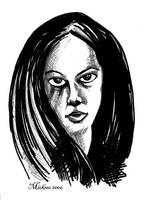 Kathy Sketch by mickmoart