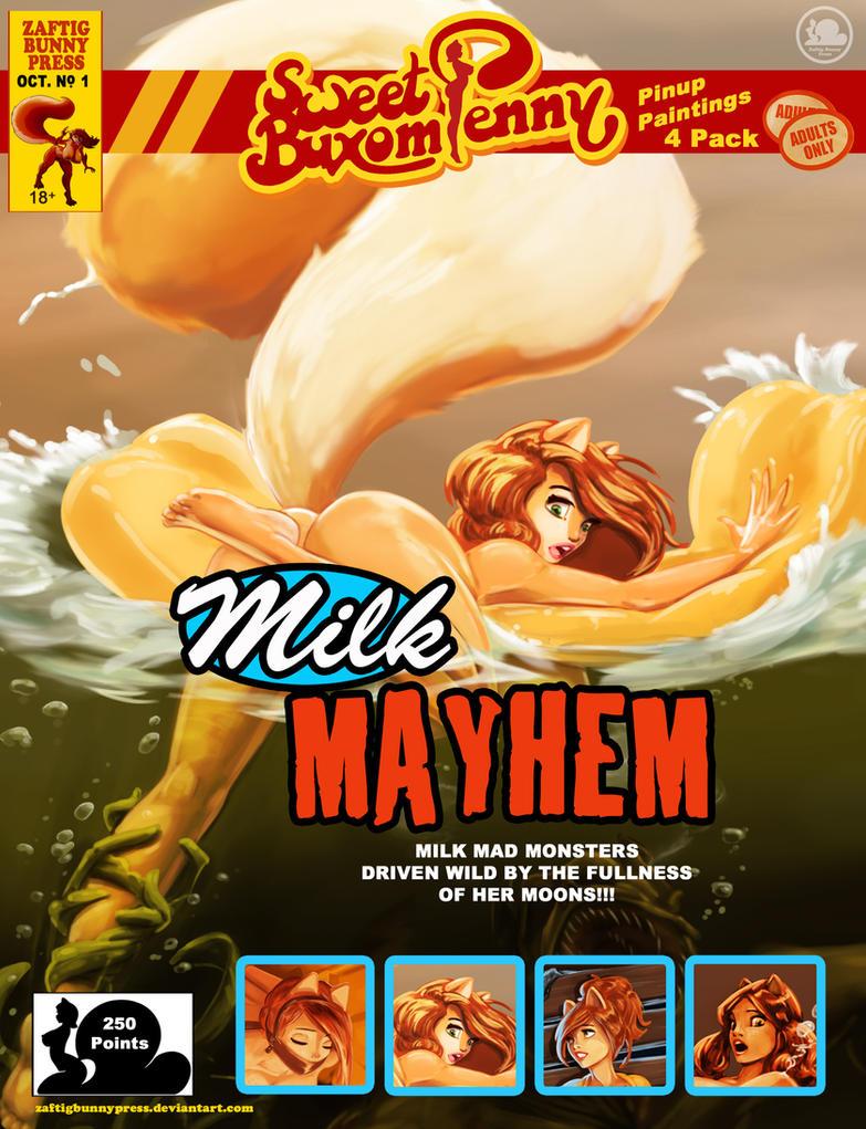 Milk Mayhem by ZaftigBunnyPress