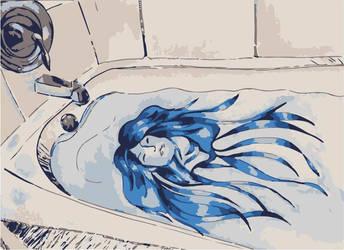 Bathtub Girl by anamar98