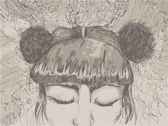 Gray Girl by anamar98