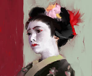 maiko/geisha sketch by digital404
