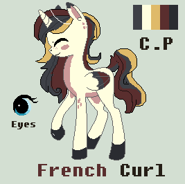 French Curl Pony Adoptable -Closed- by LuckyCloverAdopts