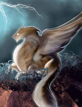 Mystical fluffy dragon