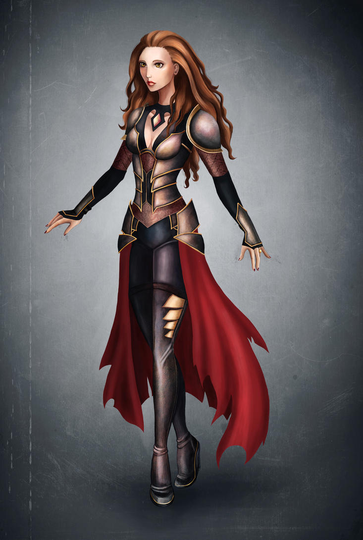 Concept art. Female character design by Sunsethunter13