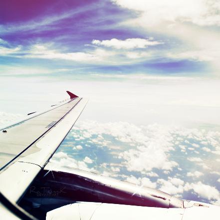 flying across