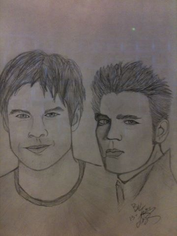 Salvatore brothers by BlondieZombie