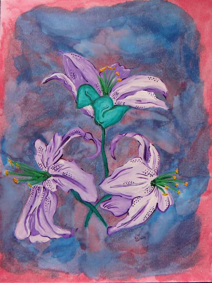 Lilies in a haze by BlondieZombie