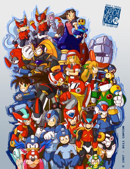 Megaman Galore by SketchBravo
