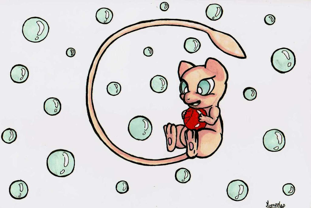 Mew and the Red bubble