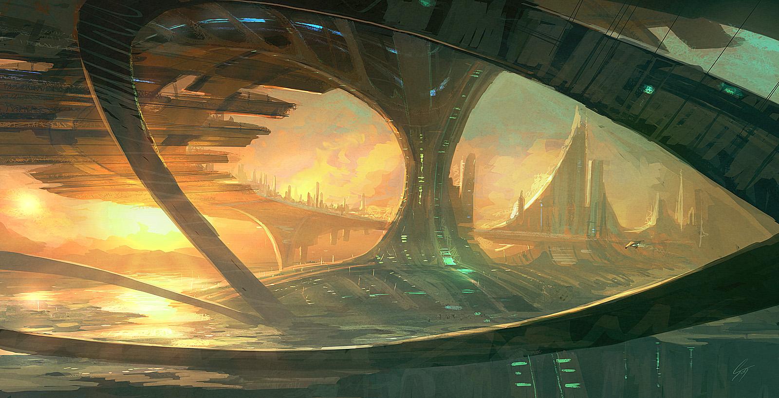 Speedpaint - Bridge cities