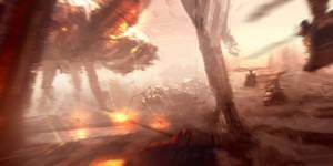 Speedpaint - SpiderMech battle