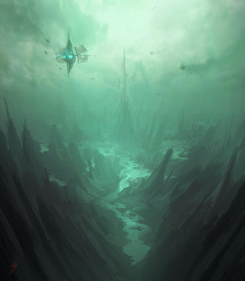 Speedpainting 'Hidden City' by ANTIFAN-REAL