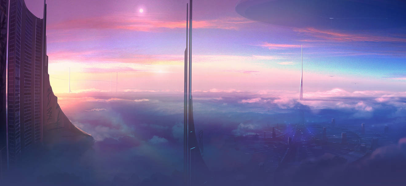 Speed Painting - Above the Clouds by ANTIFAN-REAL